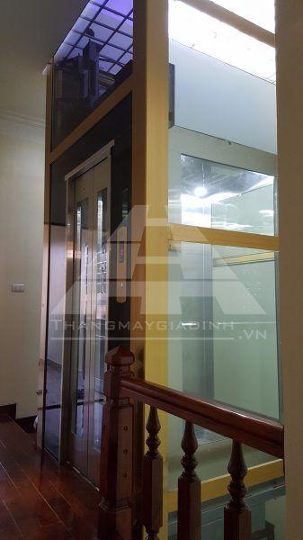 Lắp đặt thang máy tại đường Thái Thịnh, quận Đống Đa, Hà Nội.